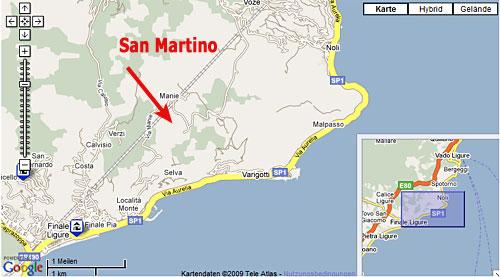 San Martino Lageplan